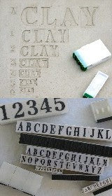 Letter Stamp Set  S-10a 1.38 inch