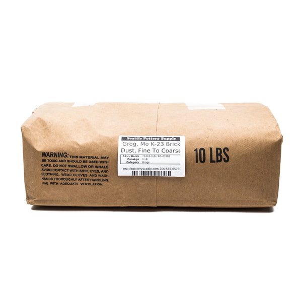 Grog,  Mo K-23 Brick Dust, Fine To Coarse