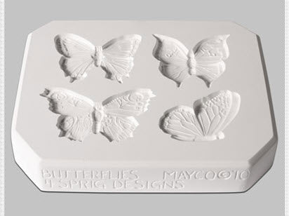 Mayco Sprig Mold - CD-1261 - Butterflies