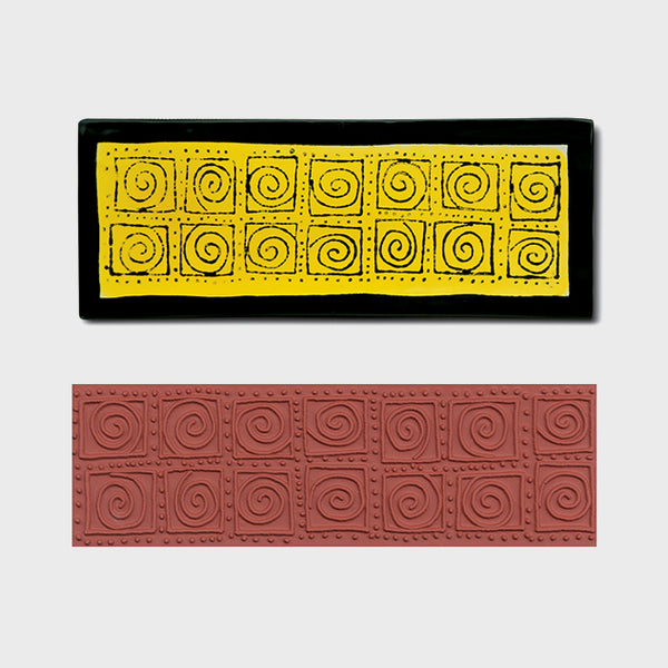 Jumbo Swirl Blocks Stamp