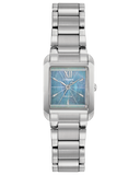 Ladies stainless steel Citizen blue dial square Eco Drive bracelet watch