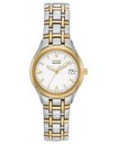 "Ladies stainless steel two tone Citizen Eco Drive ""Corso"" wrist watch"