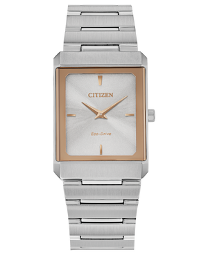 "Citizen Eco Drive stainless steel two tone ""Stiletto"" wristwatch"