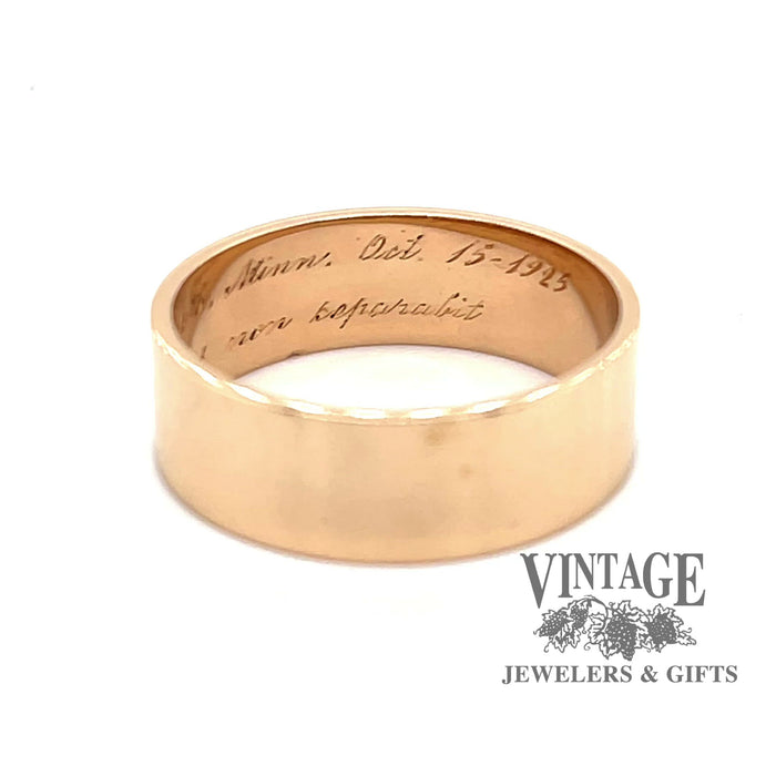 Video of  vintage 14k gold flat ring band