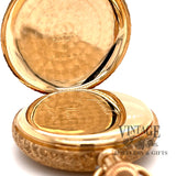 American Waltham Pocket watch in 14k multi color gold case, inside back cover.