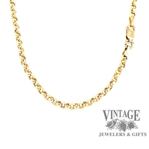 "14K gold 33.5"" rolo link chain"