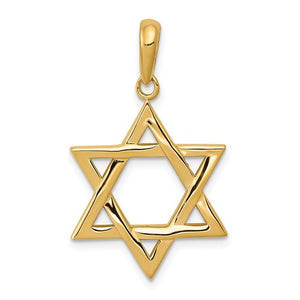 14 K yellow gold Star of David pendant