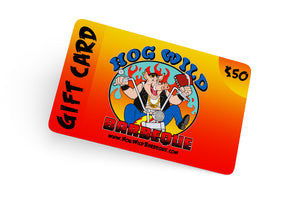 Gift Cards - Hog Wild Barbeque™
