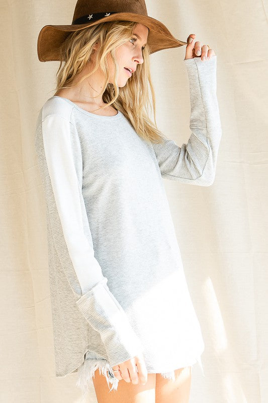 Easy Like Sunday Waffle Tunic Top