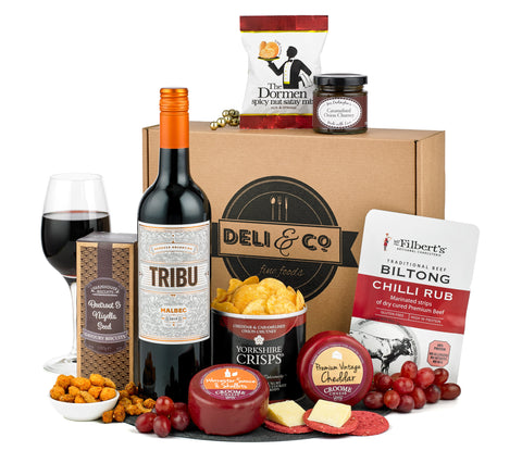 Wine & Cheese hamper box from Spicers of Hythe