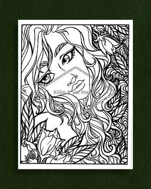 Taking Time to Smell the Flowers: Colouring Page 30