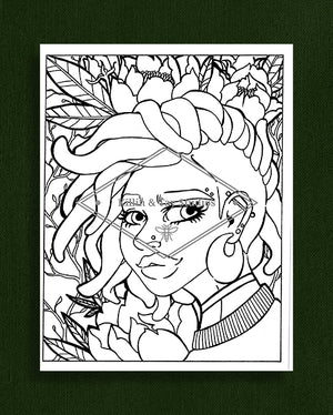 Taking Time to Smell the Flowers: Colouring Page 33
