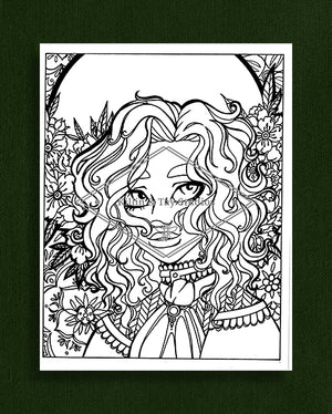 Taking Time to Smell the Flowers: Colouring Page 35
