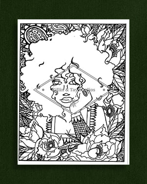 Taking Time to Smell the Flowers: Colouring Page 38