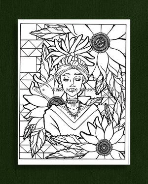 Taking Time to Smell the Flowers: Colouring Page 39