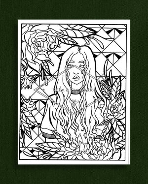 Taking Time to Smell the Flowers: Colouring Page 41
