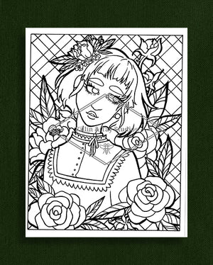 Taking Time to Smell the Flowers: Colouring Page 43
