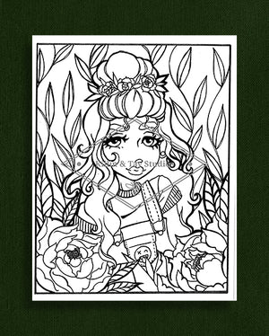 Taking Time to Smell the Flowers: Colouring Page 15