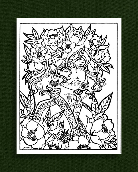 Taking Time to Smell the Flowers: Colouring Page 14