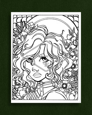 Taking the Time to Smell the Flowers: Colouring Page 11