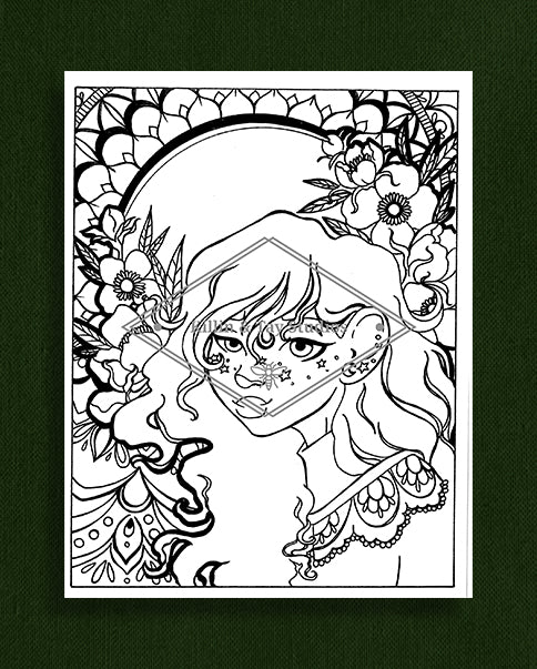 Taking Time to Smell the Flowers: Colouring Page 8