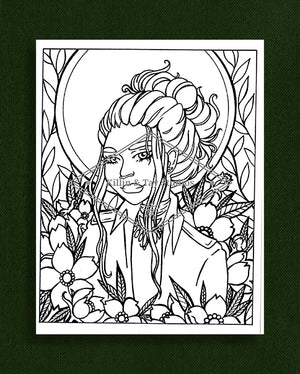 Taking Time to Smell the Flowers: Colouring Page 34