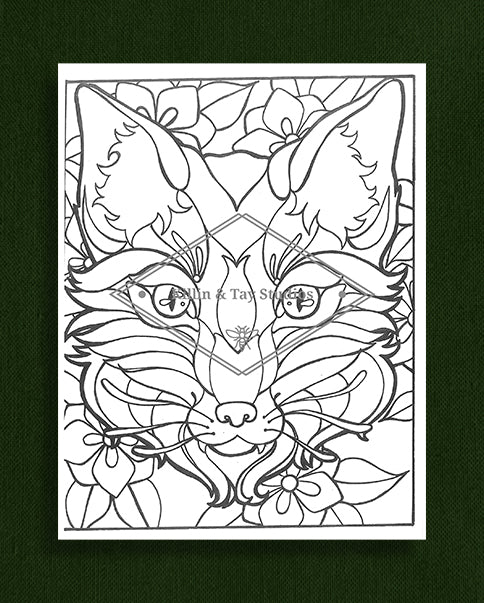 Creatures in Colour: Fox Colouring Page