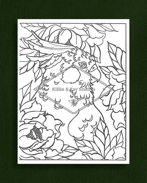 Creatures in Colour: Cockatoo Colouring Page