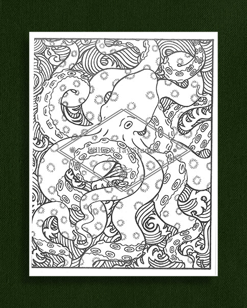 Creatures in Colour: Octopus Colouring Page