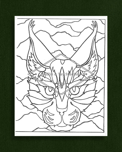 Creatures in Colour: Lynx Colouring Page