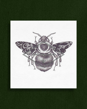 Bee with Lace Wings Original Illustration
