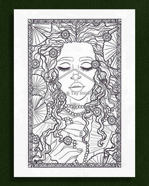 Lady of the Lake Colouring Page