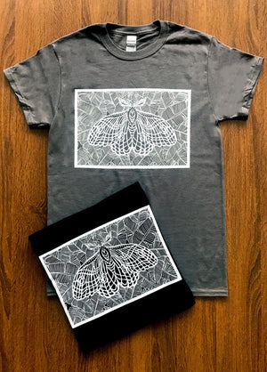Moth Graphic Tee Shirt