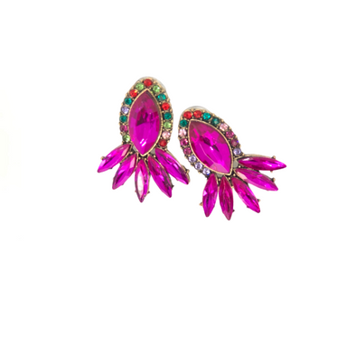 Nakia- Pink Gems Vintage Studs Earrings