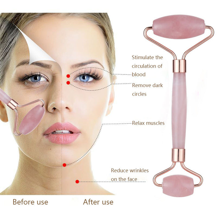 Rose Quartz Slimming Face Roller