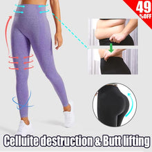 Load image into Gallery viewer, High-waisted Anti-Cellulite Leggings- Tummy Control