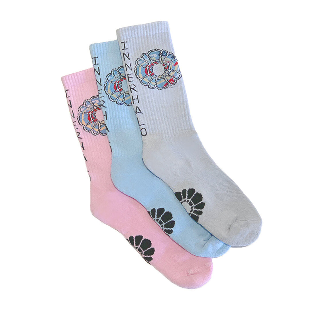 INNER HALO SOCKS - MULTICOLOR 3PK