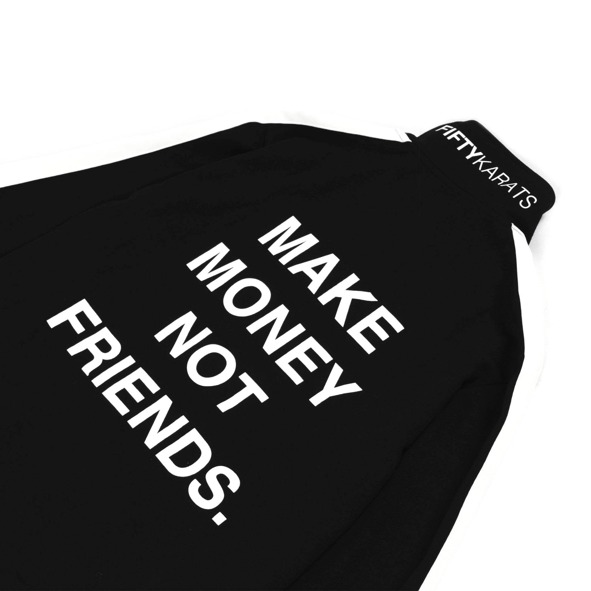 MAKE MONEY NOT FRIENDS TRACK JACKET - BLACK