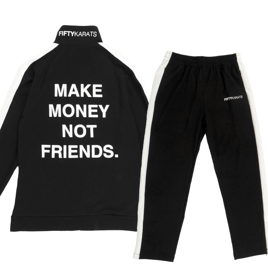 MAKE MONEY NOT FRIENDS TRACKSUIT - BLACK