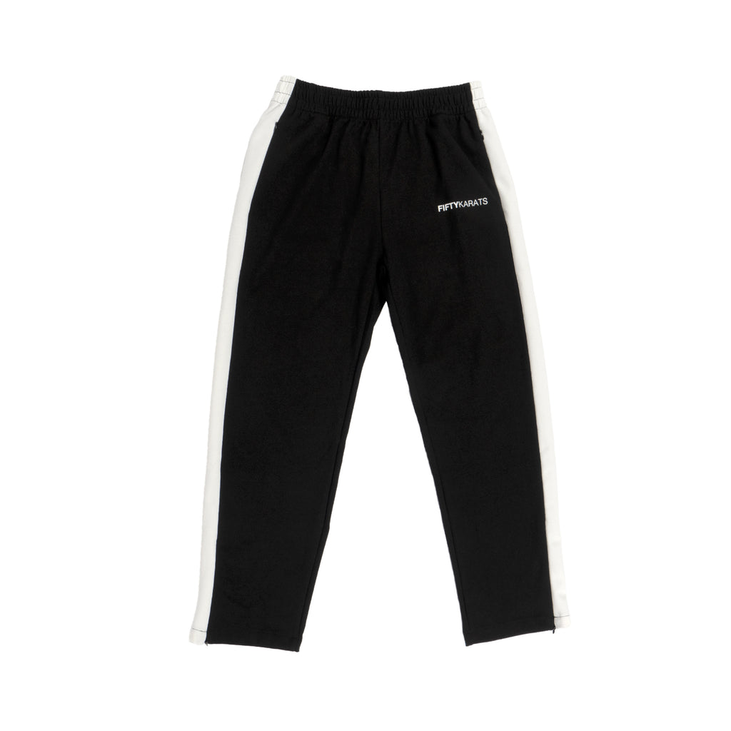 FIFTY KARATS TRACK PANTS - BLACK