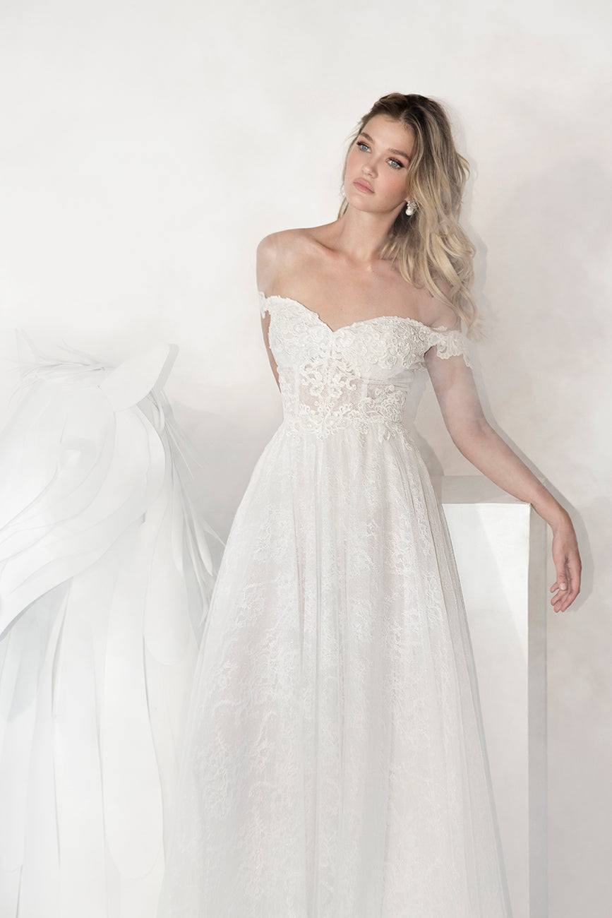 Camille bohemian bridal Wedding Dress