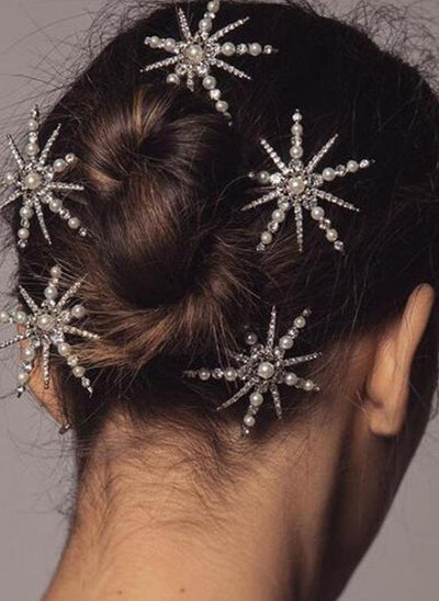 bridel pearl star hair accessories