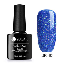 Load image into Gallery viewer, Nail Polish  Glitter Platinum