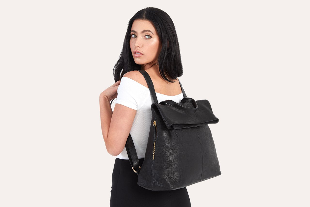 Fold N Go leather Backpack/Bag