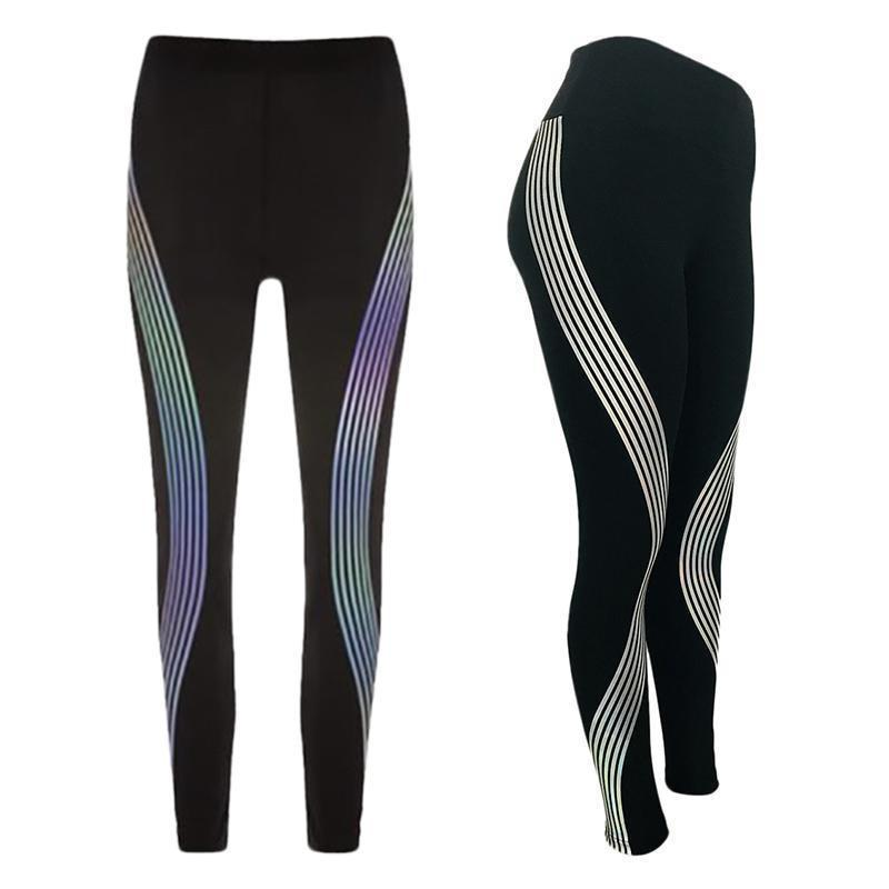 Rainbow Reflective Leggings. Fitness leggings. Glow In The Dark legging fitness - Expressions2u