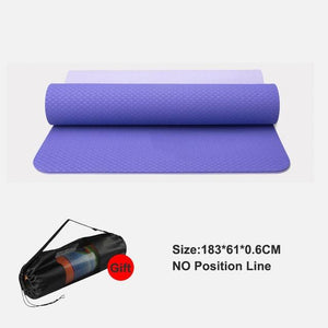 TPE Yoga Mat With Position Line Fitness Gymnastics Mats Double Layer Non-slip Beginner Sport Carpet Pads Women 6mm Mats Yoga - Expressions2u