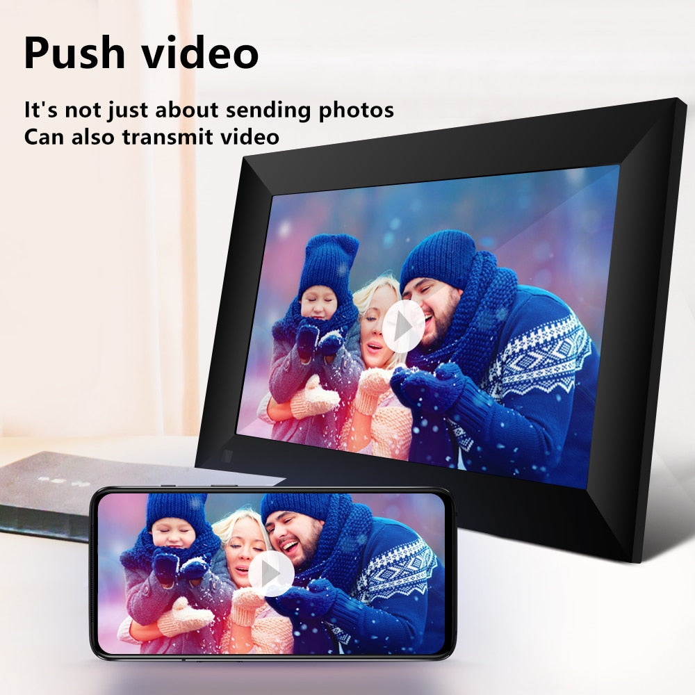 "10.1"" Digital Picture Frame with Touch Screen,16GB,WiFi, 800x1280 LCD Panel"