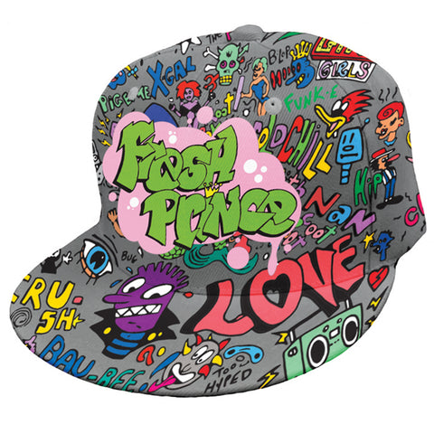Fresh Prince Graffiti Print Hat