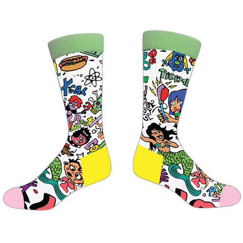 Graffiti Print Socks