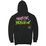 Break The Monotony Suede Puff Print Hoodie